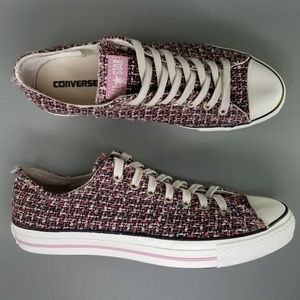 Converse CTAS Weave Ox Skate Shoes 11 Pink White
